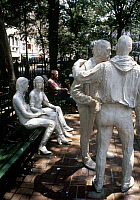 0115462 © Granger - Historical Picture ArchiveSEGAL: GAY LIBERATION, 1980.   'Gay Liberation.' Sculpture group in Sheridan Square, New York City, by George Segal, 1980.