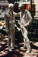 0115463 © Granger - Historical Picture ArchiveSEGAL: GAY LIBERATION, 1980.   Part of the sculpture group 'Gay Liberation' in Sheridan Square, New York City, by George Segal, 1980.