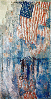 0124708 © Granger - Historical Picture ArchiveHASSAM: AVENUE IN THE RAIN.   'The Avenue in the Rain.' Oil on canvas by Childe Hassam, 1917.