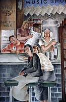 0176735 © Granger - Historical Picture ArchiveVIDAR: DEPARTMENT STORE.   Detail of a mural by Frede Vidar, 1934, in the Coit Tower, San Francisco, California. Full credit: Erik Falkensteen / Granger, NYC -- All rights reserved