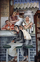 0176736 © Granger - Historical Picture ArchiveVIDAR: DEPARTMENT STORE.   Detail of a mural by Frede Vidar, 1934, in the Coit Tower, San Francisco, California. Full credit: Erik Falkensteen / Granger, NYC -- All rights reserved