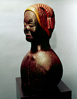 0260216 © Granger - Historical Picture ArchiveWOMAN WITH LIBERTY CAP.   Wooden sculpture of an African American woman wearing a liberty cap, by an anonymous American artist, c1860.