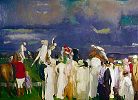 0260660 © Granger - Historical Picture ArchiveBELLOWS: POLO, c1910.   A polo scene. Oil on canvas, George Bellows, c1910.