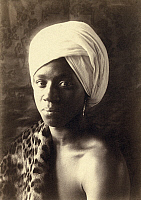 0268824 © Granger - Historical Picture ArchiveDAY: MAN, c1897.   Portrait of a young man wearing a turban. Photograph by F. Holland Day, c1897.