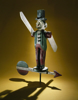 0409407 © Granger - Historical Picture ArchiveSTANDING MAN WHIRLIGIG.   Wooden whirligig, or wind toy from the Eastern United States, c1940.