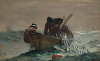 0468479 © Granger - Historical Picture ArchiveHOMER: HERRING NET, 1885.   Oil on canvas, Winslow Homer, 1885.
