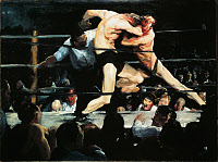 0525794 © Granger - Historical Picture ArchiveBELLOWS: SHARKEY'S, 1909.   'Stag at Sharkey's.' Oil on canvas by George Bellows, 1909.