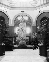 0623454 © Granger - Historical Picture ArchiveSTATUE OF FREEDOM.   Plaster model of the Statue of Freedom, designed by Thomas Crawford, in the Smithsonian Institution in Washington, D.C. Photograph, late 19th or early 20th century.