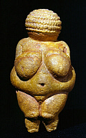0023893 © Granger - Historical Picture ArchiveVENUS OF WILLENDORF.   Late Paleolithic stone statuette, found in Austria, dating from about 24,000-22,000 B.C.
