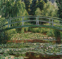0433752 © Granger - Historical Picture ArchiveMONET: WATER LILY POOL, 1899.   'Japanese Footbridge and the Water Lily Pool, Giverny.' Oil on canvas, Claude Monet, 1899.