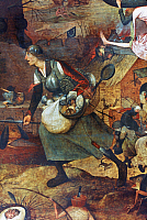 0115399 © Granger - Historical Picture ArchiveBREUGHEL: MAD MEG, c1562.   Dulle Griet (Mad Meg). Oil on panel, central detail, by Pieter Breughel the Elder, c1562.