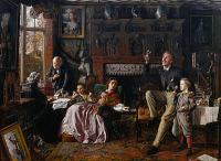 0026536 © Granger - Historical Picture ArchiveMARTINEAU: LAST DAY, 1862.   'The Last Day in the Old Home.' Oil on canvas, 1862, by Robert Brathwaite Martineau. RESTRICTED OUTSIDE US.