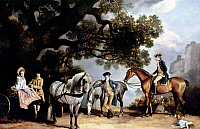 0046534 © Granger - Historical Picture ArchiveSTUBBS: HORSES, c1769.   'The Milbanke and Melbourne Families.' Oil on canvas by George Stubbs, c1769. RESTRICTED OUTSIDE US.