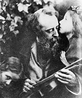 0125878 © Granger - Historical Picture ArchiveJ.M. CAMERON: WATTS.   'Kiss of Peace'. George Frederic Watts and children. Photograph, c1867, by Julia Margaret Cameron (1815-1879).