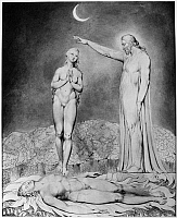 0162980 © Granger - Historical Picture ArchiveBLAKE: PARADISE LOST, 1808.   'The Creation of Eve.' Watercolor illustration by William Blake, 1808, for John Milton's 'Paradise Lost.'