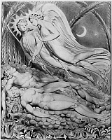 0162981 © Granger - Historical Picture ArchiveBLAKE: PARADISE LOST, 1808.   'Adam and Eve Sleeping.' Watercolor illustration by William Blake, 1808, for John Milton's 'Paradise Lost.'