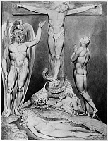 0162985 © Granger - Historical Picture ArchiveBLAKE: PARADISE LOST, 1808.   'Prophecy of the Crucifixion.' Watercolor illustration by William Blake, 1808, for John Milton's 'Paradise Lost.'