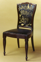 0351823 © Granger - Historical Picture ArchiveMACKMURDO: CHAIR, c1882.   Dining chair with fret back, designed by Arthur Heygate Mackmurdo, c1882.