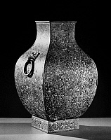 0122090 © Granger - Historical Picture ArchiveCHINA: BRONZE VESSEL.   Bronze 'fang hu' wine vessel, inlaid with malachite. Late Eastern Zhou, 279 B.C.