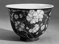 0123179 © Granger - Historical Picture ArchiveCHINA: WINE CUP.   Porcelain wine cup with floral design. K'ang Hsi period, Ching Dynasty, 1661-1722.