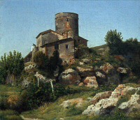 0352628 © Granger - Historical Picture ArchiveECKERSBERG: CAMPAGNA, 1815.   'A Building in the Roman Campagna.' Oil on canvas by Christoffer Wilhelm Eckersberg, 1815.