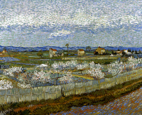 0020245 © Granger - Historical Picture ArchiveVAN GOGH: PEACH TREE, 1889.   Peach Trees in Blossom. Oil on canvas, 1889, by Vincent Van Gogh.