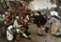 0025265 © Granger - Historical Picture ArchiveBRUEGEL: PEASANT DANCE.   The Peasant Dance. Oil on panel by Pieter Bruegel the elder, c1567.