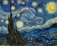 0026090 © Granger - Historical Picture ArchiveVAN GOGH: STARRY NIGHT.   The Starry Night. Oil on canvas by Vincent Van Gogh, 1889.