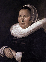 0028072 © Granger - Historical Picture ArchiveHALS: WOMAN, 1635.   Portrait of a Middle-aged Woman. Oil on canvas by Frans Hals, c1635. RESTRICTED OUTSIDE US.
