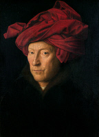 0037636 © Granger - Historical Picture ArchiveVAN EYCK: MAN, 1433.   Jan Van Eyck: Man in a Turban. Oil on wood, 1433. RESTRICTED OUTSIDE US.