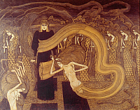 0040938 © Granger - Historical Picture ArchiveJAN TOOROP: FATALITY, 1893.   Pencil, black and colored chalk on paper.