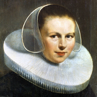 0117686 © Granger - Historical Picture ArchiveMIERVELD: WOMAN WITH RUFF.   Oil on canvas by Michiel Jansz Mierveld (1567-1641).