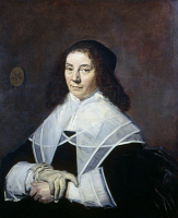 0350811 © Granger - Historical Picture ArchiveHALS: DOROTHEA BERCK, 1644.   Portrait of Dorothea Berck (1593-1684), wife of Joseph Coymans. Oil on canvas by Frans Hals, 1644.