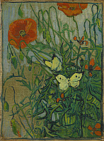 0433506 © Granger - Historical Picture ArchiveVAN GOGH: POPPIES, 1890.   'Poppies and Butterflies.' Oil on canvas, Vincent van Gogh, 1890.