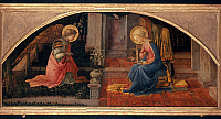 0019956 © Granger - Historical Picture ArchiveLIPPI: ANNUNCIATION.   Oil on wood Fra Filippo Lippi, c1450. RESTRICTED OUTSIDE US.