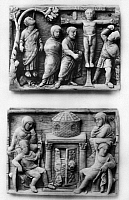 0075329 © Granger - Historical Picture ArchiveIVORY PANELS, 400 A.D.   Panels from an early Christian casket, with scenes of the Passion, Italian, c400 A.D.