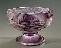 0363044 © Granger - Historical Picture ArchiveDECORATIVE ARTS.   Amethyst coloured glass bowl with base, Cloud Glass series, ca 1920, George Davidson and Co glassworks, Gateshead-on-Tyne, England, UK, 20th century.Full credit: De Agostini / A. Dagli Orti / Granger, NYC -- All rights re