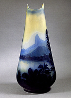 0363116 © Granger - Historical Picture ArchiveDECORATIVE ARTS.   Cameo glass vase with a pear shaped body decorated with a view of the bay of Rio de Janeiro, 1900, by Emile Galle, Nancy, France, 19th century.Full credit: De Agostini / G. Dagli Orti / Granger, NYC -- All rights reserved