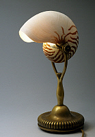 0363187 © Granger - Historical Picture ArchiveDECORATIVE ARTS.   Glass table lamp in the shape of Nautilus with a bronze base, 1900, Tiffany Studios, New York, United States of America, 19th century.Full credit: De Agostini / A. Dagli Orti / Granger, NYC -- All rights reserved.