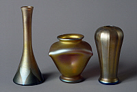 0363216 © Granger - Historical Picture ArchiveDECORATIVE ARTS.   Favrile glass vases, by Louis Comfort Tiffany, United States of America, 20th century.Full credit: De Agostini / G. Cigolini / Granger, NYC -- All rights reserve