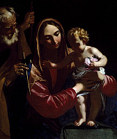 0366945 © Granger - Historical Picture ArchiveFINE ART.   Holy Family, painting by an unknown artist, 17th century. Full Credit: De Agostini / V. Pirozzi / Granger, NYC -- All Rights Reserved.