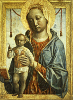 0367357 © Granger - Historical Picture ArchiveFINE ART.   Madonna of the Book, 1460-1468, by Vincenzo Foppa (ca1427 - ca 1515), tempera on panel, 37x30 cm. Full Credit: De Agostini Picture Library / Granger, NYC -- All rights