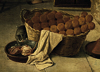 0367405 © Granger - Historical Picture ArchiveFINE ART.   Basket of bread, detail from the Forneria. Italy, 18th century. Full Credit: De Agostini Picture Library / Granger, NYC -- All Rights Reserved.