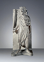 0367429 © Granger - Historical Picture ArchiveFINE ART.   April, statue from the Cycle of Months, Baptistery of Parma, 1210-1215, by Benedetto Antelami (active 1178-1233), stone carving. Italy, 13th century. Full Credit: De Agostini / A. Dagli Orti / Granger, NYC -- All rights reserved