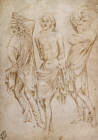 0367939 © Granger - Historical Picture ArchiveFINE ART.   Flagellation of Christ, by Stefano da Verona (1379-1438), pen drawing. Full Credit: De Agostini Picture Library / Granger, NYC -- All rights reserved.