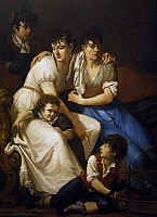 0367948 © Granger - Historical Picture ArchiveFINE ART.   Family Portrait, 1807, by Francesco Hayez (1791-1882), oil on canvas, 134x94 cm. Full Credit: De Agostini / G. Dagli Orti / Granger, NYC -- All rights reserved.