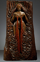 0368194 © Granger - Historical Picture ArchiveFINE ART.   Isis, ca 1895, by Georges Lacombe (1868-1916), polychrome mahogany bas-relief. Italy, 19th century. Full Credit: De Agostini Picture Library / Granger, NYC -- All right