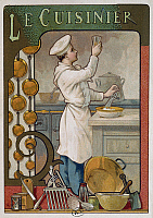 0368238 © Granger - Historical Picture ArchiveFINE ART.   The cook, poster. France, 19th century. Full Credit: De Agostini Picture Library / Granger, NYC -- All right