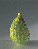 0422582 © Granger - Historical Picture ArchiveDECORATIVE ARTS.   Close-up of a green glass fig, Murano, Venice, Veneto, Italy Full credit: De Agostini / A. Dagli Orti / Granger, NYC -- All Rights Reserved.