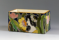 0423081 © Granger - Historical Picture ArchiveDECORATIVE ARTS.   Art Nouveau style cachepot, 1905-1910, earthenware, height 12.5 cm Full credit: De Agostini / M. Bottura / Granger, NYC -- All Rights Reserved.